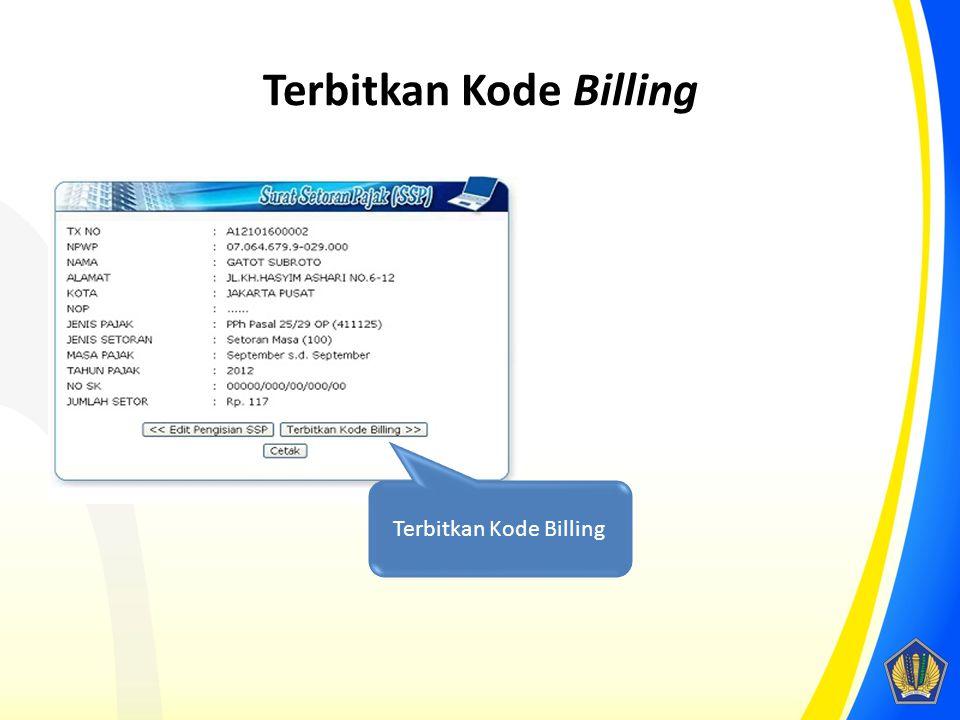 Terbitkan Kode Billing