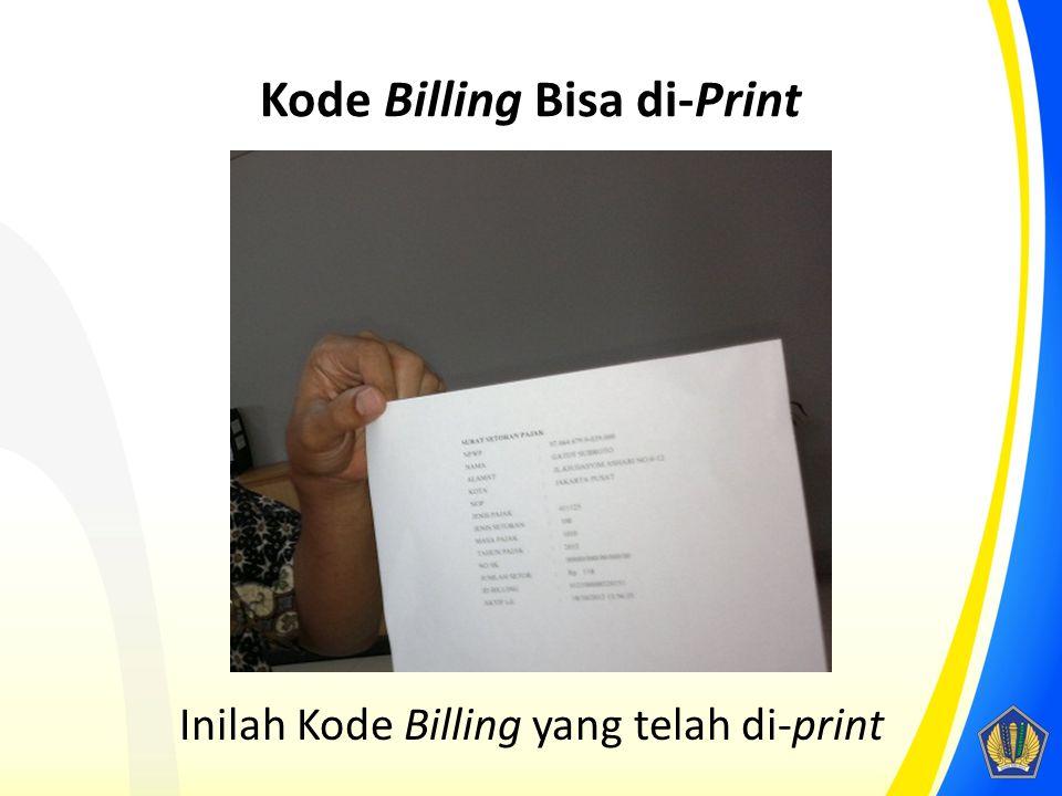 Kode Billing Bisa di-Print