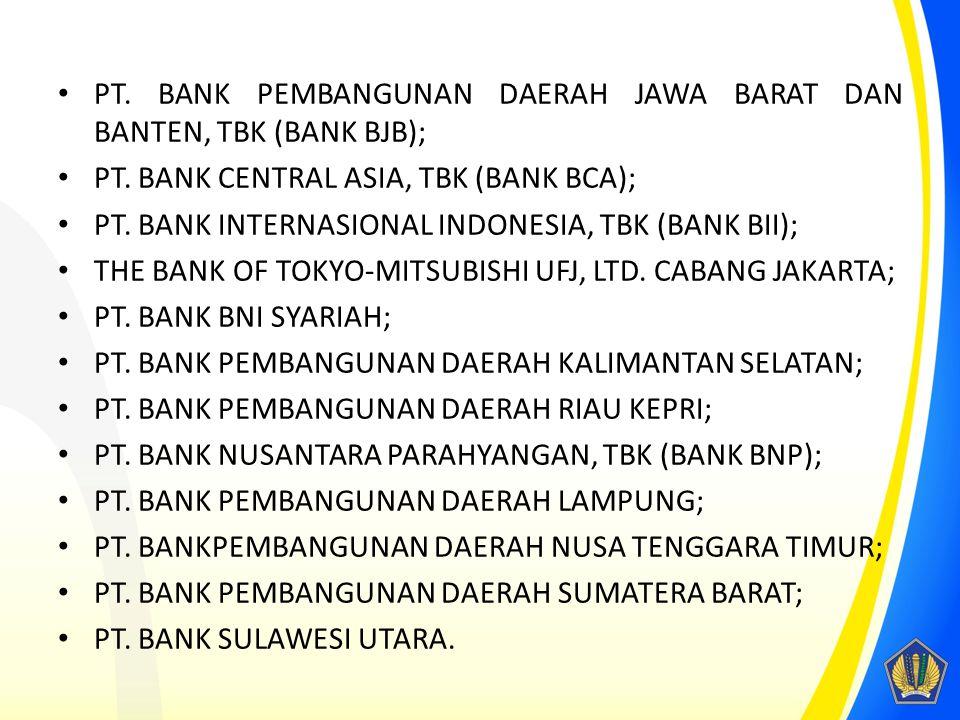 PT. BANK PEMBANGUNAN DAERAH JAWA BARAT DAN BANTEN, TBK (BANK BJB);
