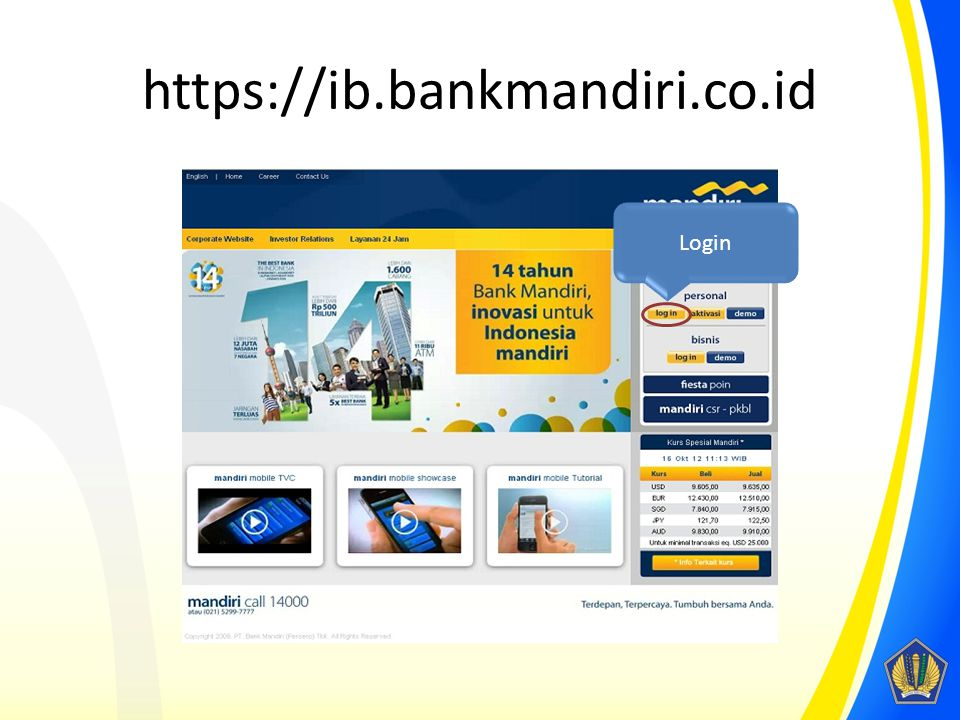 https://ib.bankmandiri.co.id Login
