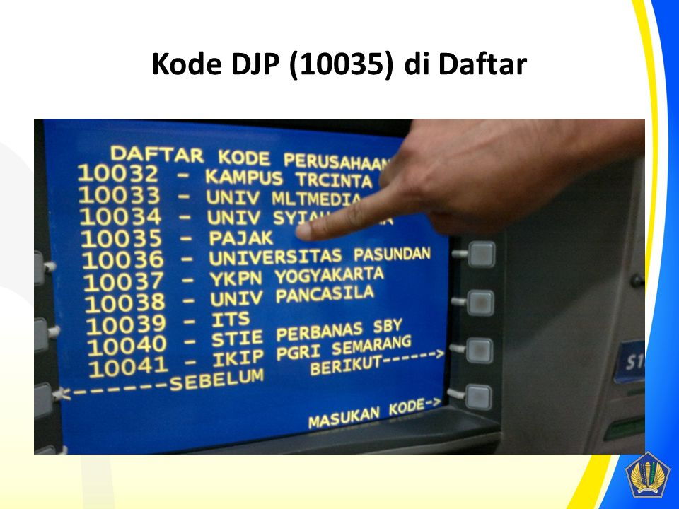 Kode DJP (10035) di Daftar