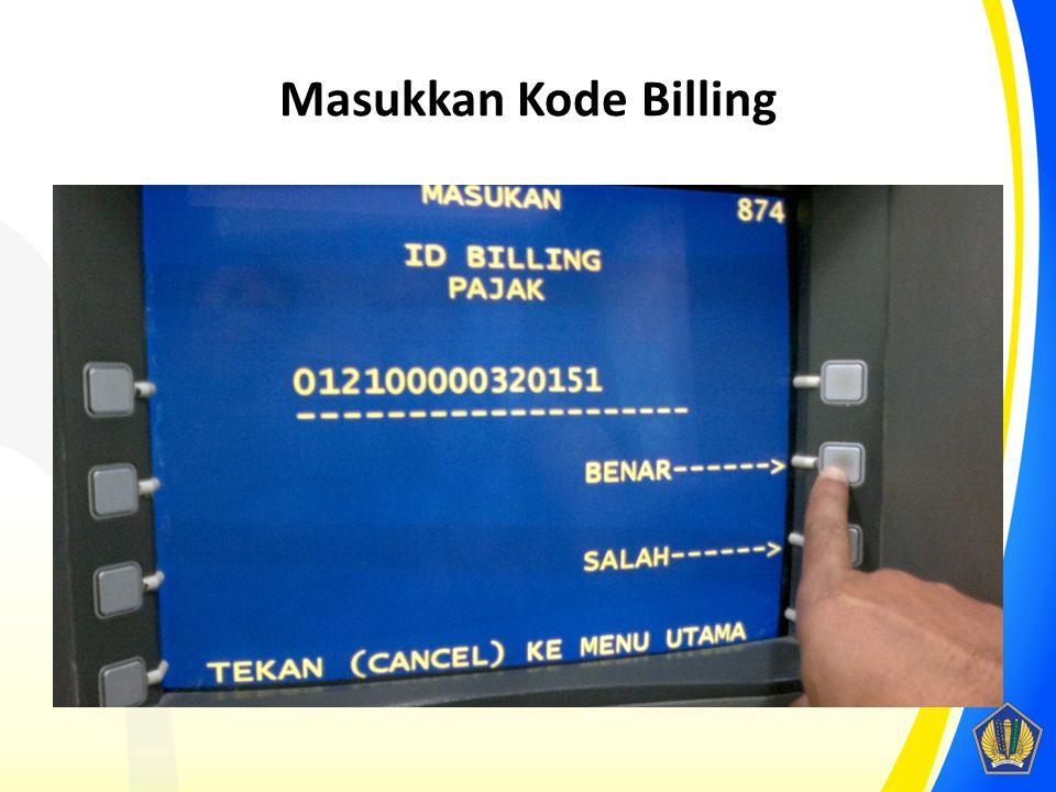 Masukkan Kode Billing