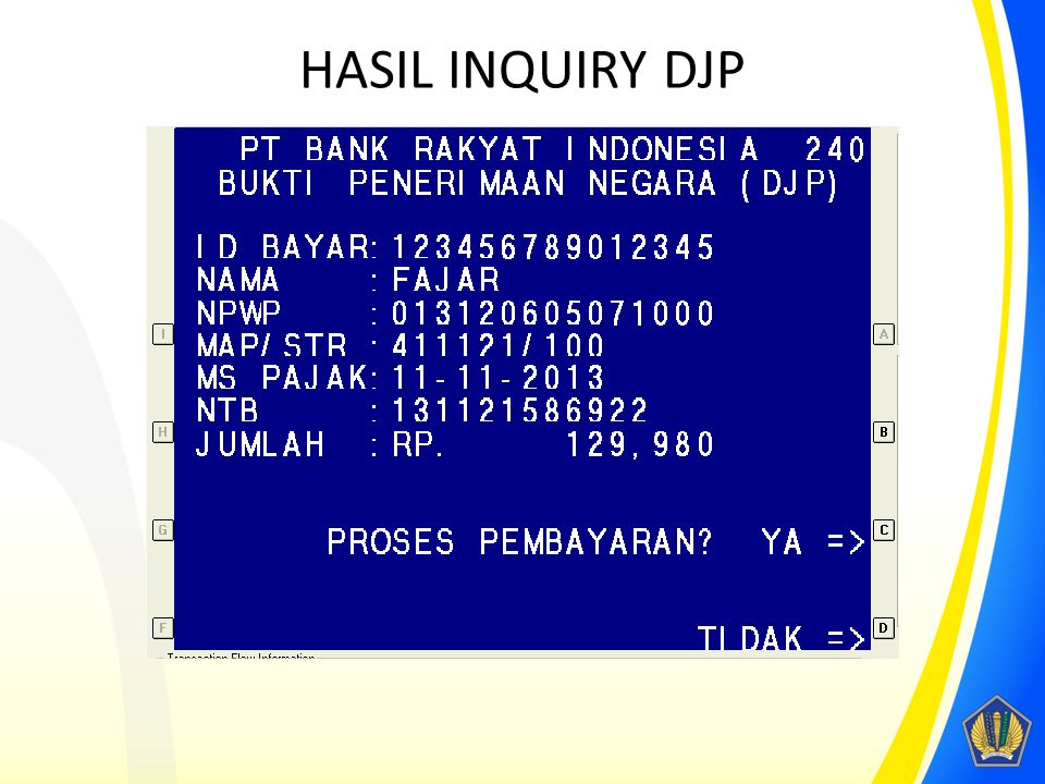 HASIL INQUIRY DJP