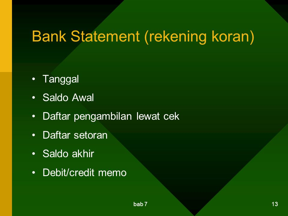 Bank Statement (rekening koran)