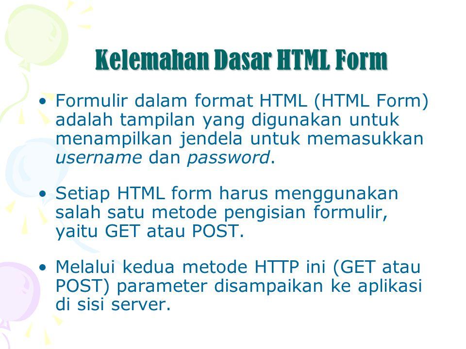 Kelemahan Dasar HTML Form