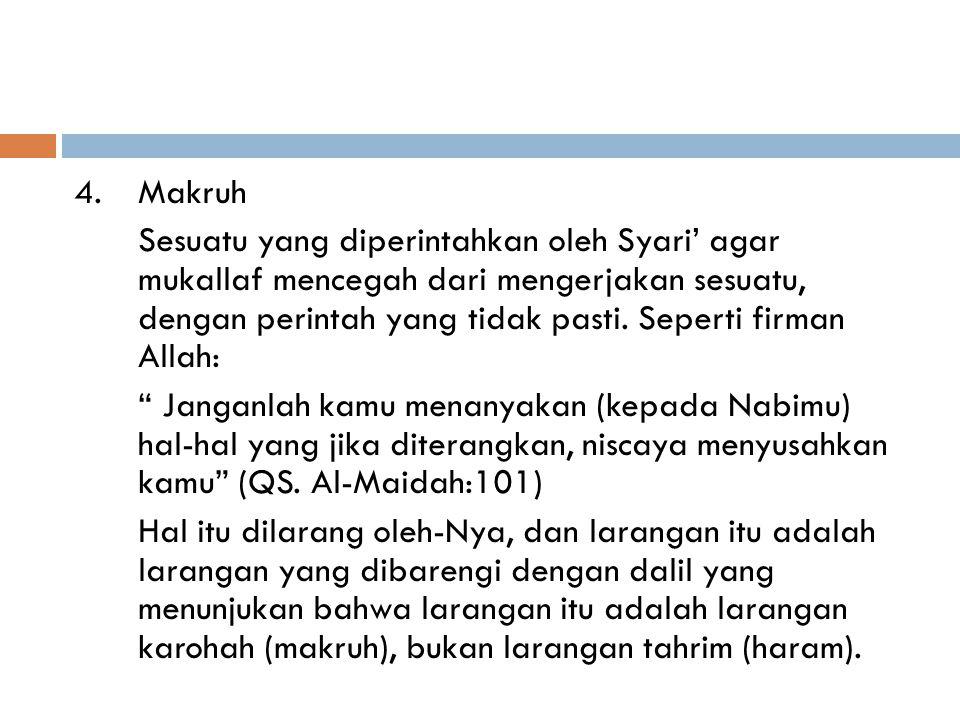 4. Makruh