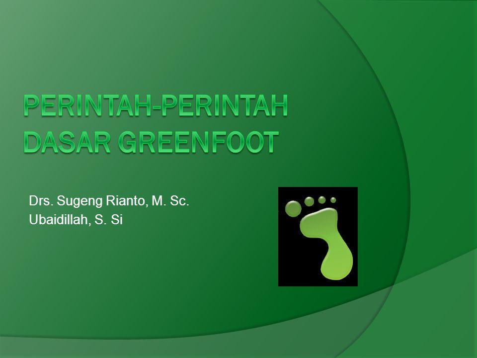 Perintah-perintah dasar Greenfoot