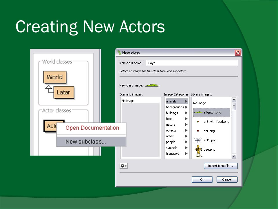 Creating New Actors