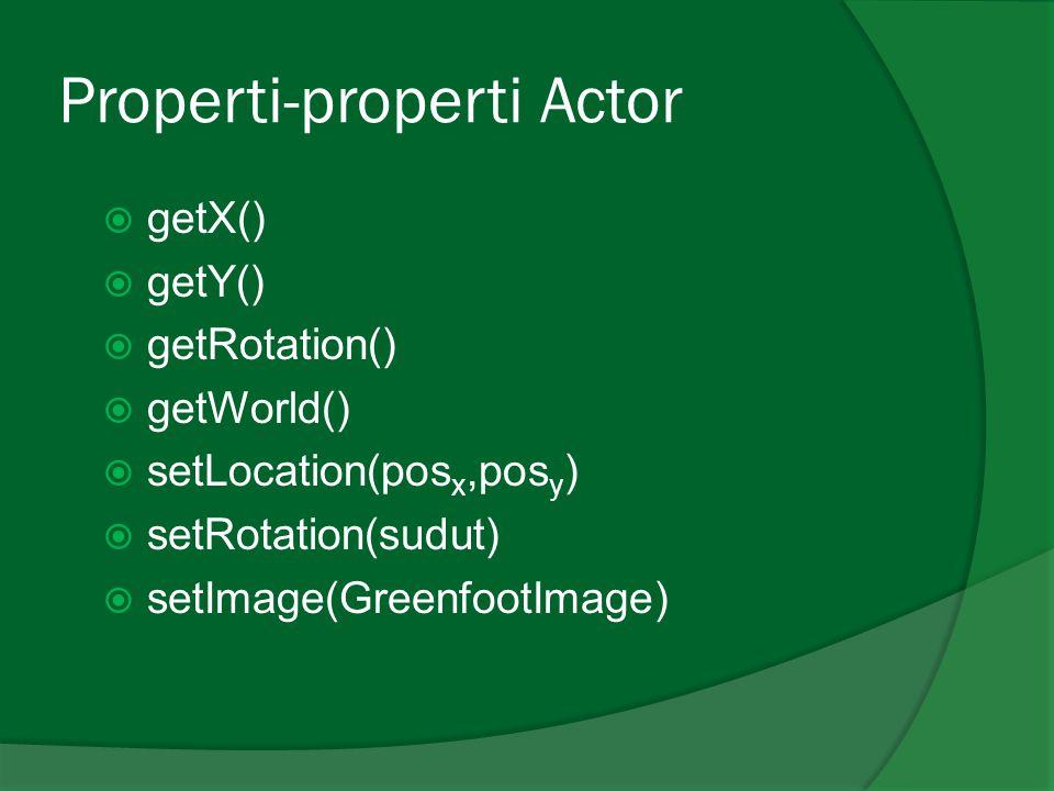 Properti-properti Actor