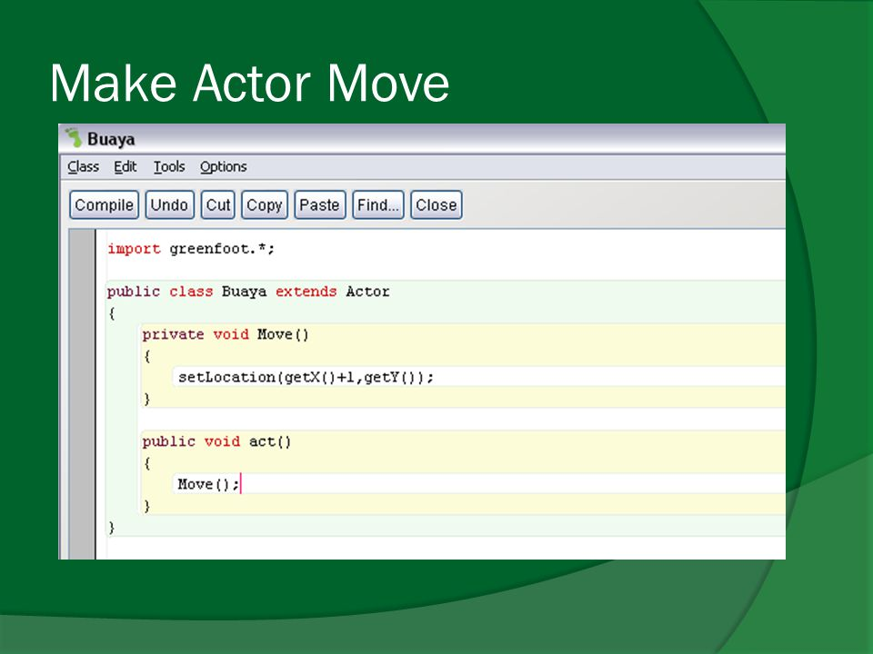 Make Actor Move