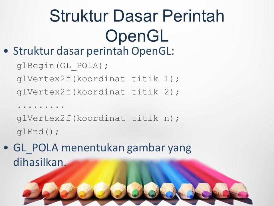 Struktur Dasar Perintah OpenGL