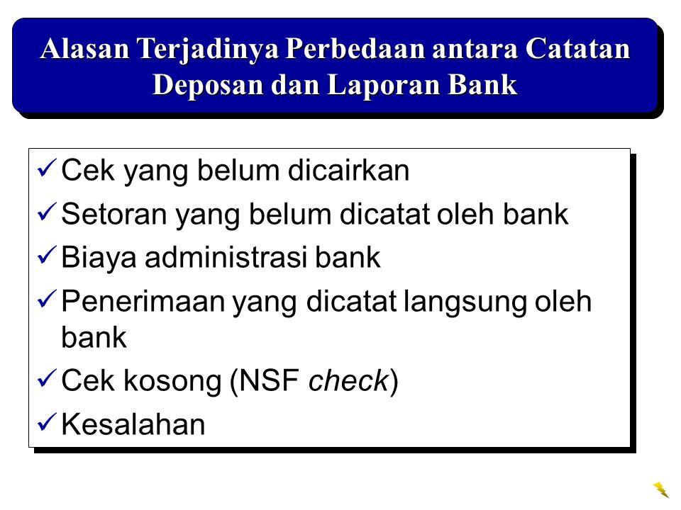 Alasan Terjadinya Perbedaan antara Catatan Deposan dan Laporan Bank