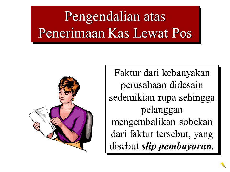 Pengendalian atas Penerimaan Kas Lewat Pos