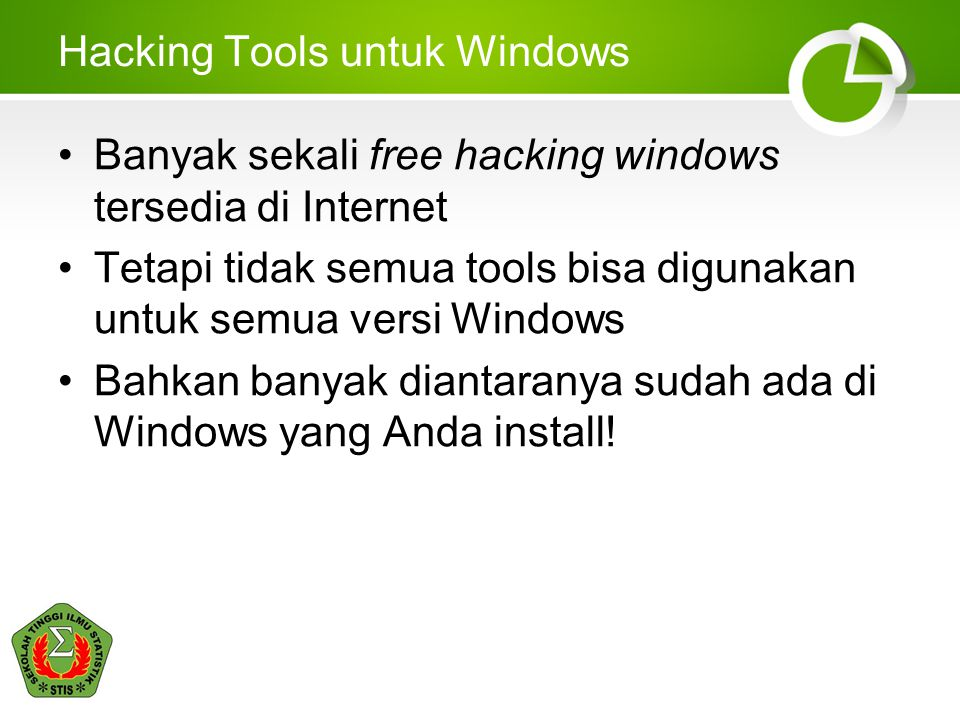 Hacking Tools untuk Windows
