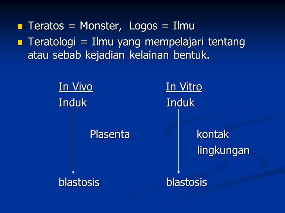 Teratos = Monster, Logos = Ilmu