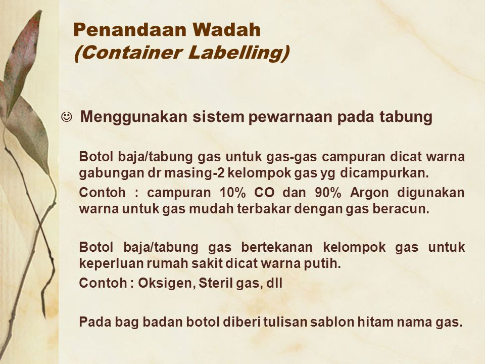 Penandaan Wadah (Container Labelling)
