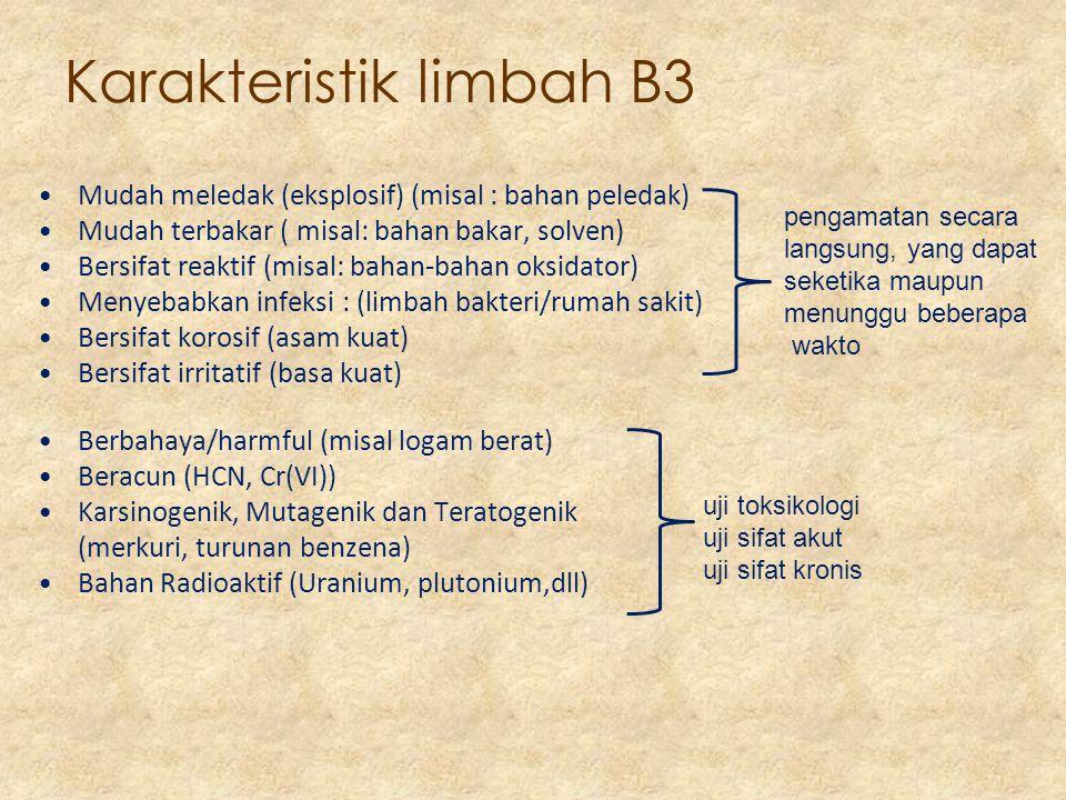 Karakteristik limbah B3