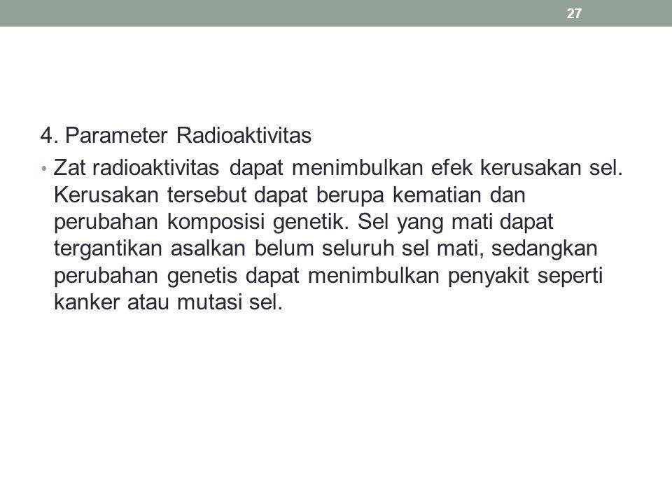 4. Parameter Radioaktivitas