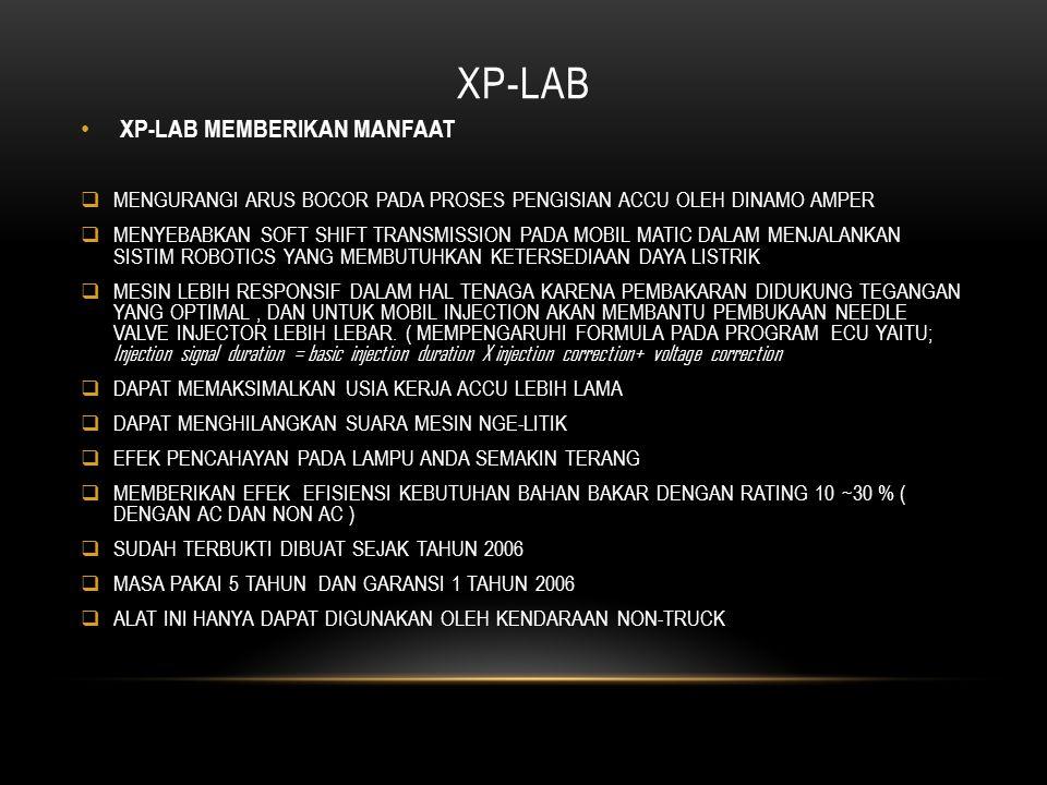 XP-LAB XP-LAB MEMBERIKAN MANFAAT