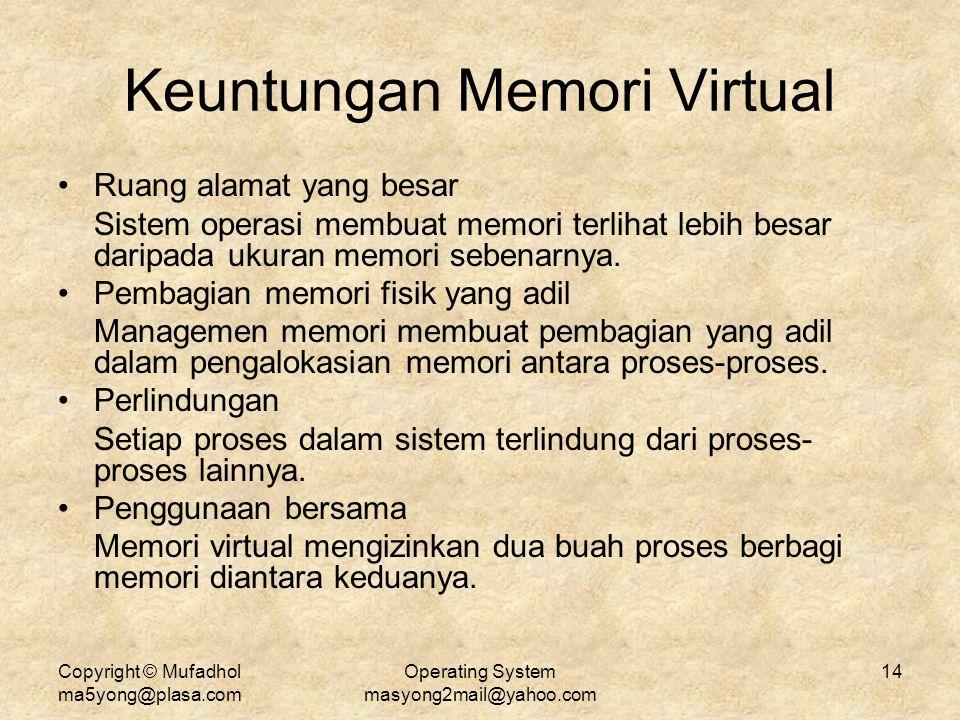Keuntungan Memori Virtual