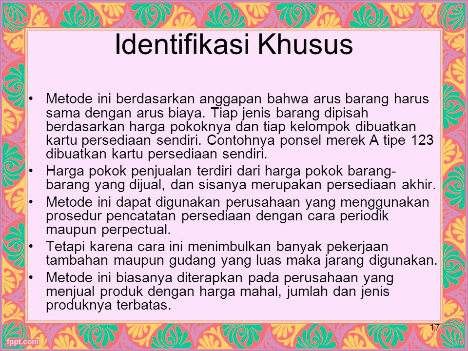 Identifikasi Khusus