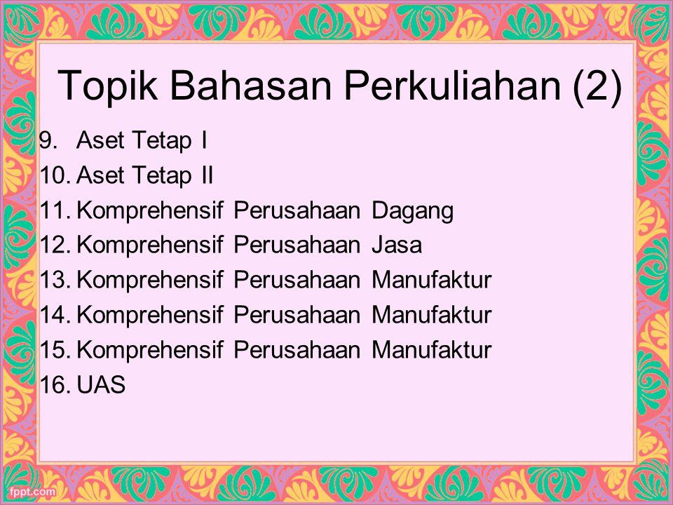 Topik Bahasan Perkuliahan (2)