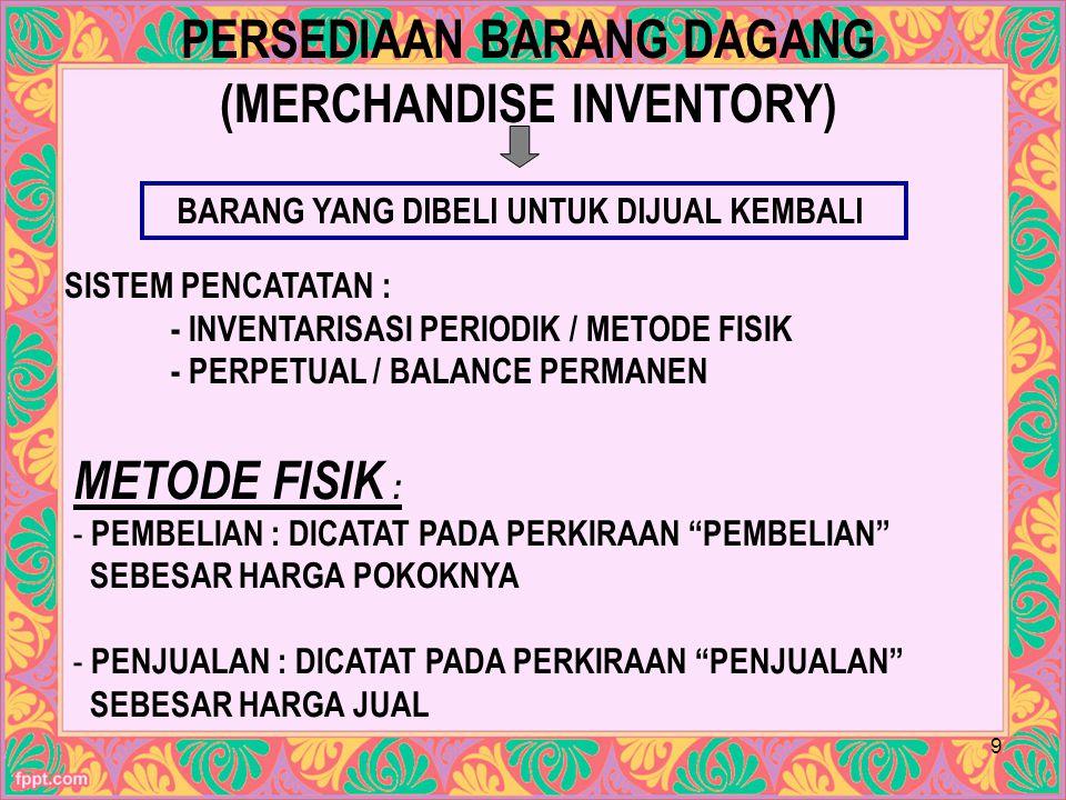 PERSEDIAAN BARANG DAGANG (MERCHANDISE INVENTORY)
