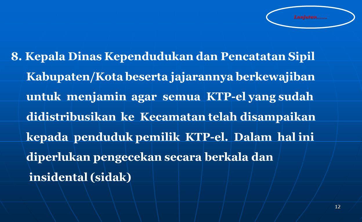 Kabupaten/Kota beserta jajarannya berkewajiban