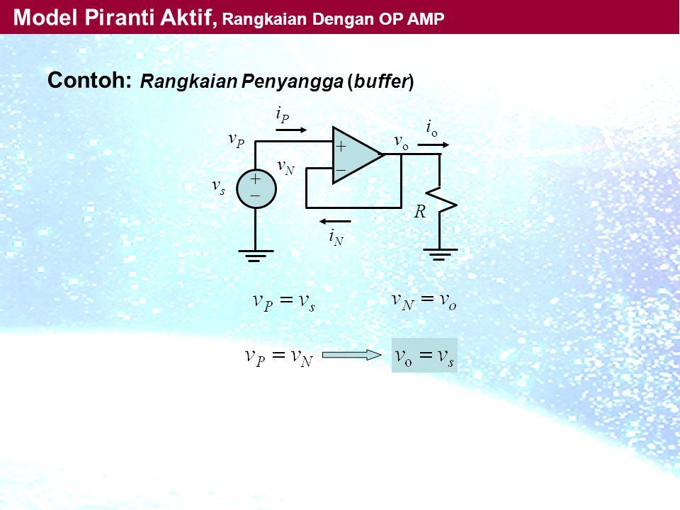 Model Piranti Aktif, Rangkaian Dengan OP AMP