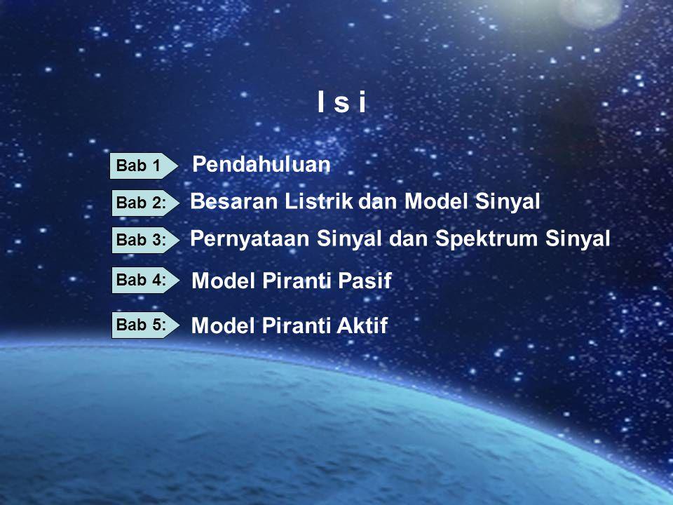 I s i Pendahuluan Besaran Listrik dan Model Sinyal