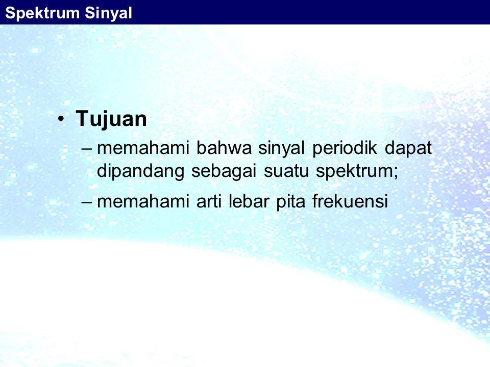 Spektrum Sinyal Tujuan.