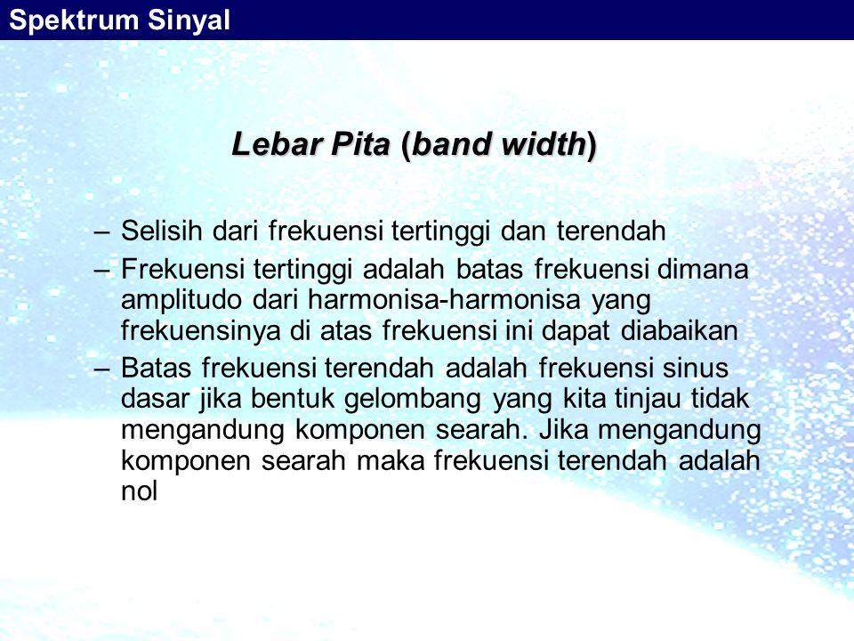 Lebar Pita (band width)