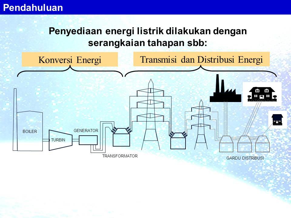 Penyediaan energi listrik dilakukan dengan serangkaian tahapan sbb: