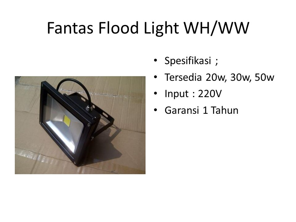 Fantas Flood Light WH/WW