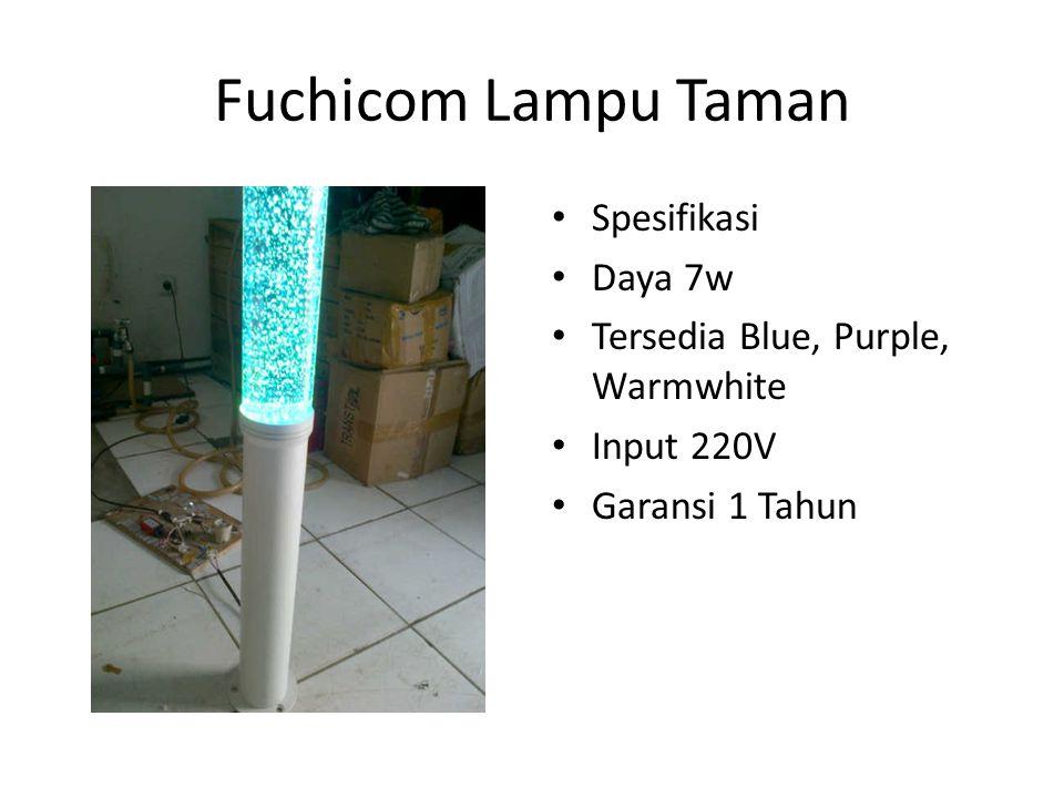 Fuchicom Lampu Taman Spesifikasi Daya 7w