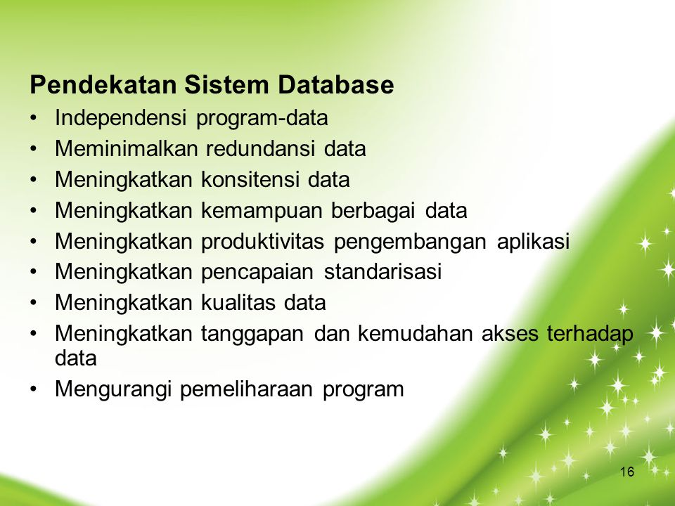 Pendekatan Sistem Database