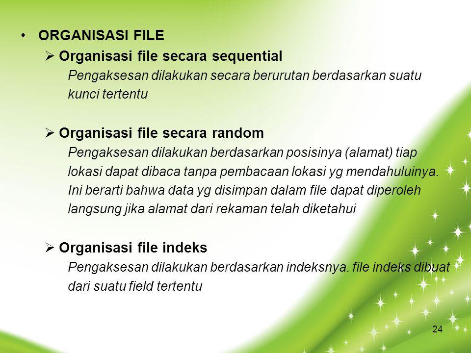 Organisasi file secara sequential