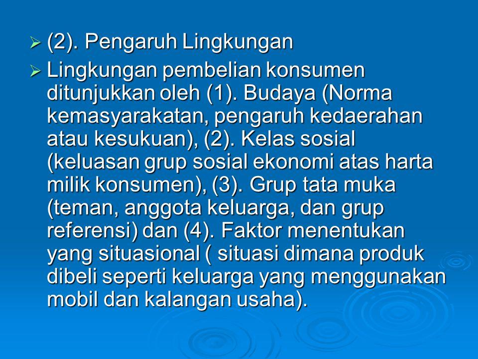 (2). Pengaruh Lingkungan