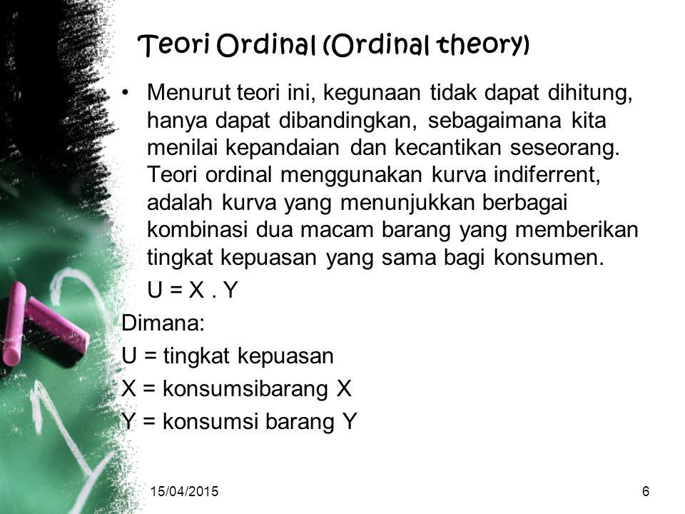 Teori Ordinal (Ordinal theory)