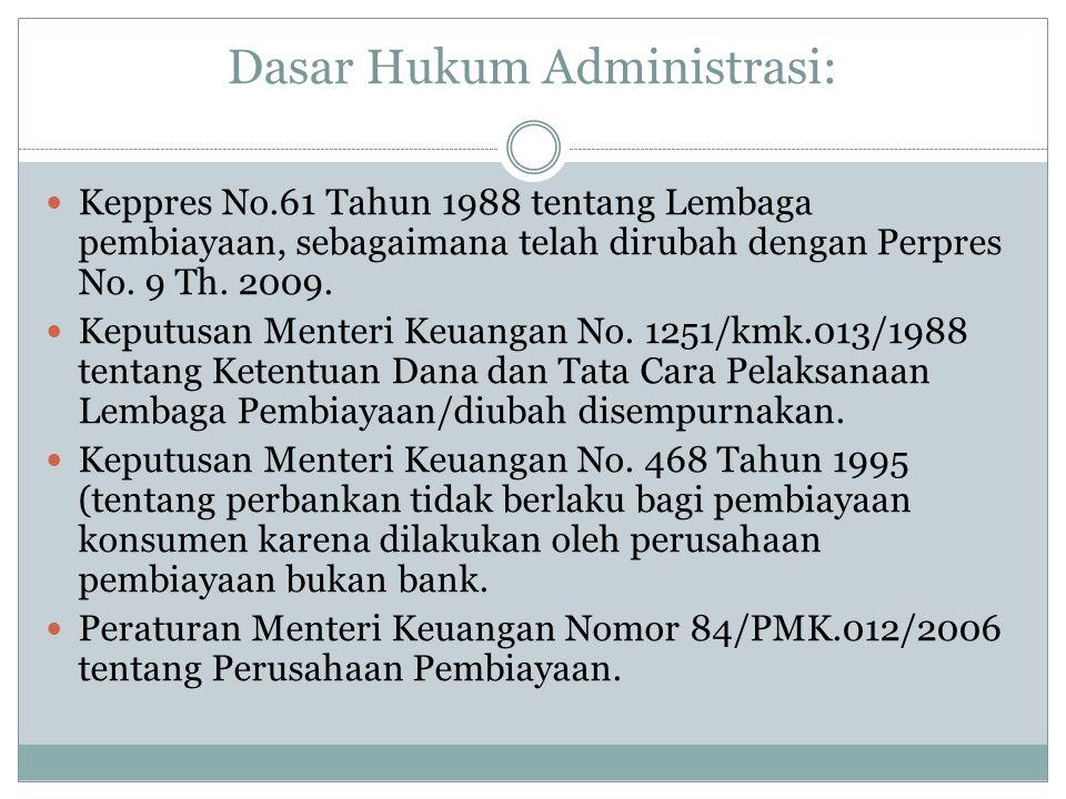Dasar Hukum Administrasi: