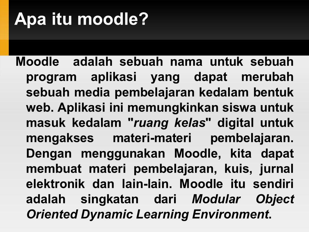 Apa itu moodle