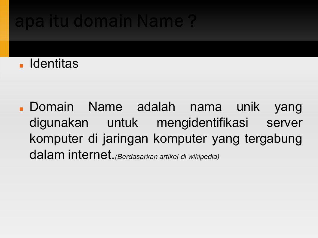 apa itu domain Name Identitas