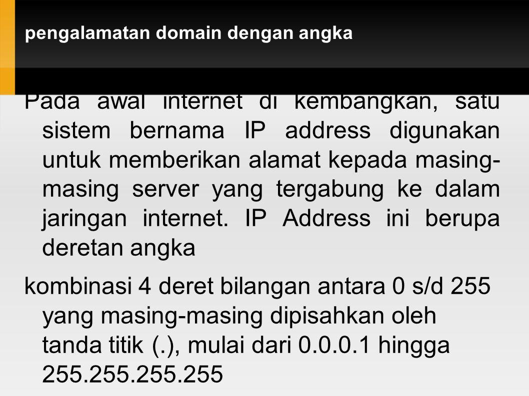 pengalamatan domain dengan angka