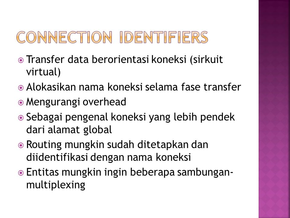 Connection identifiers