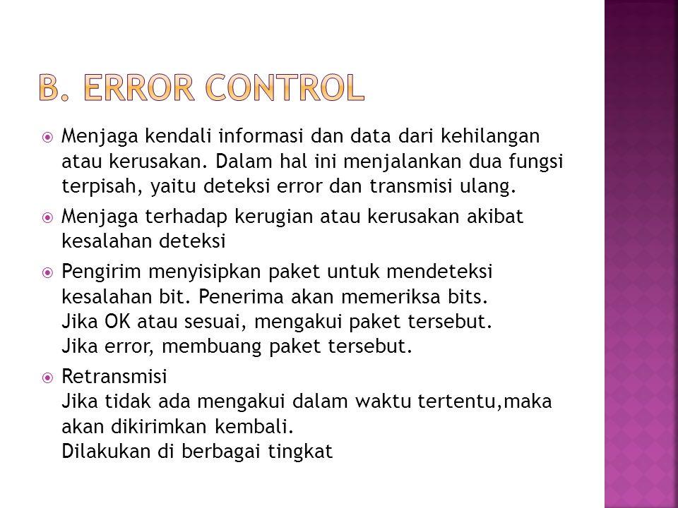 B. Error control