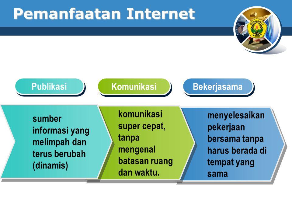 Pemanfaatan Internet Publikasi Komunikasi Bekerjasama