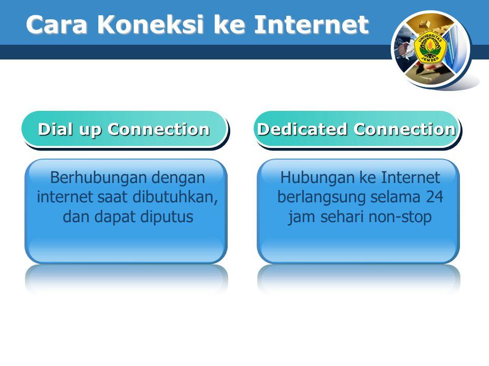 Cara Koneksi ke Internet