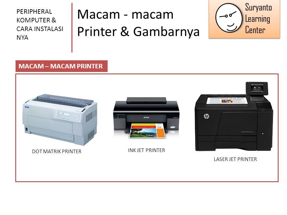 Macam - macam Printer & Gambarnya