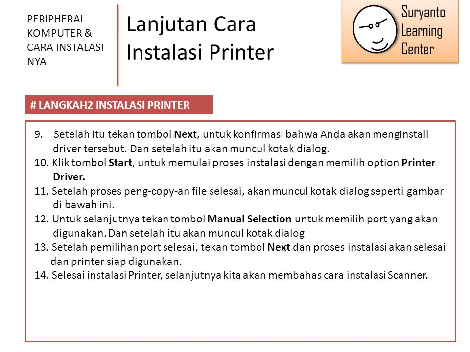Lanjutan Cara Instalasi Printer