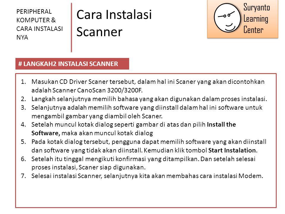 Cara Instalasi Scanner